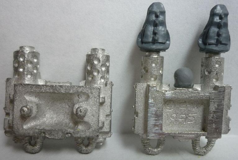 Comparativa de la parte interior del generador dorsal
