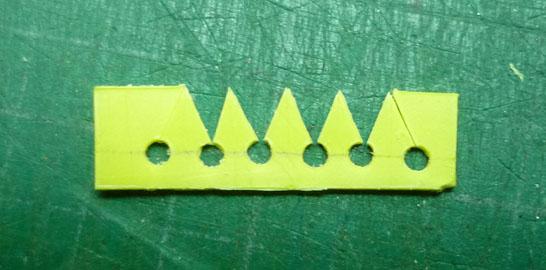 Detalles de punta de flecha en plasticard